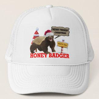 Honey Badger Merry Freakin' Christmas Trucker Hat