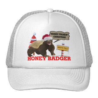 Honey Badger Merry Freakin' Christmas Trucker Hat