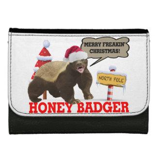 Honey Badger Merry Freakin' Christmas Wallet