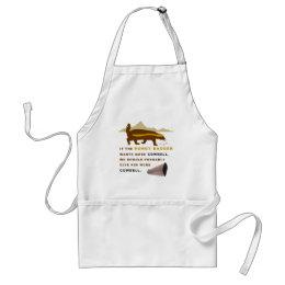 Honey Badger More Cowbell Adult Apron