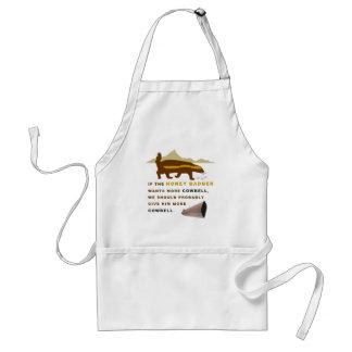 Honey Badger More Cowbell Aprons