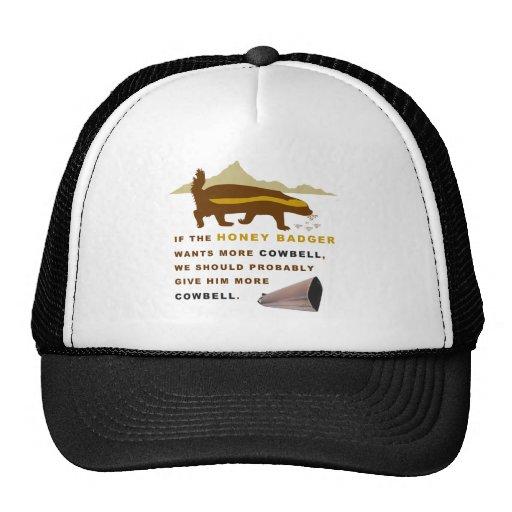 Honey Badger More Cowbell Trucker Hat