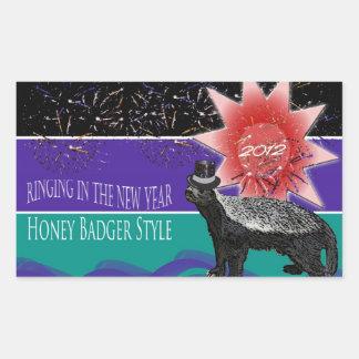Honey Badger New Year 2012 Sticker