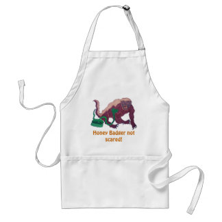 honey badger not scared adult apron