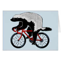 Honey Badger On a Bicycle