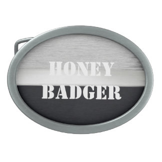 Honey badger oval belt buckle