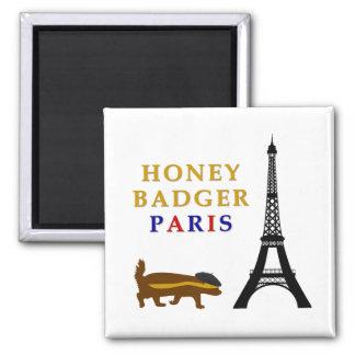 Honey Badger Paris 2 Inch Square Magnet