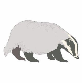 honey badger photo sculpture keychain