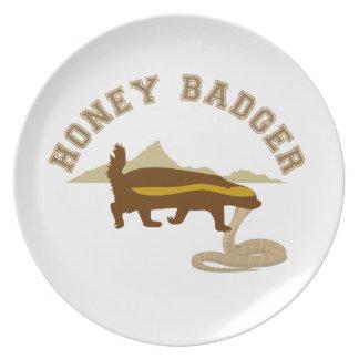 Honey Badger Plate