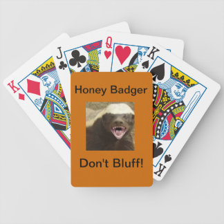 honey badger playing Cards