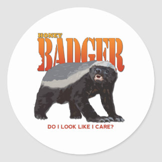 Honey Badger.png Classic Round Sticker