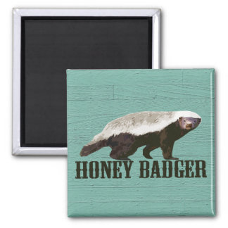 Honey Badger Profile View 2 Inch Square Magnet