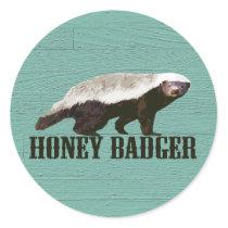 Honey Badger Profile View Classic Round Sticker