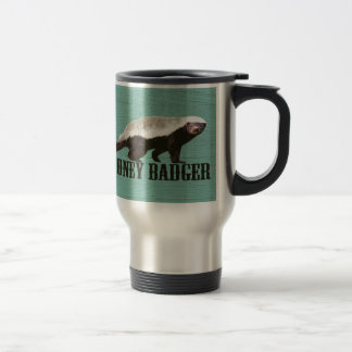 Honey Badger Profile View Coffee Mugs
