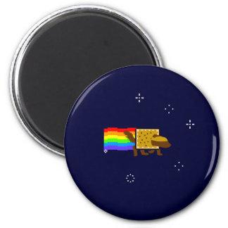 Honey Badger Rainbow Butt Space Monkey 2 Inch Round Magnet
