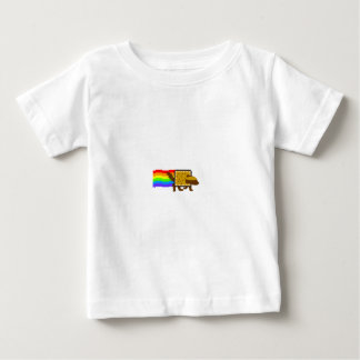 Honey Badger Rainbow Butt Space Monkey Baby T-Shirt