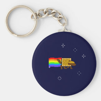 Honey Badger Rainbow Butt Space Monkey Keychain