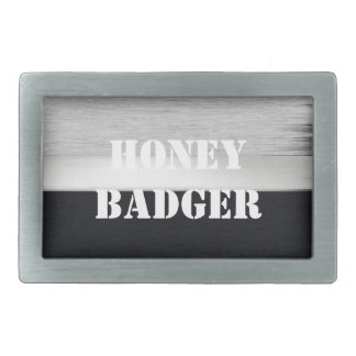 Honey badger rectangular belt buckle