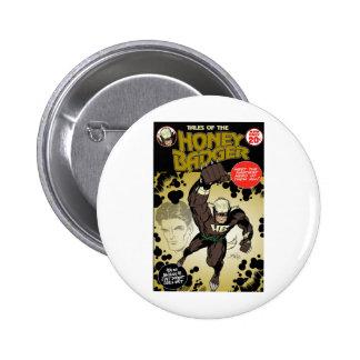 Honey badger retro buttons