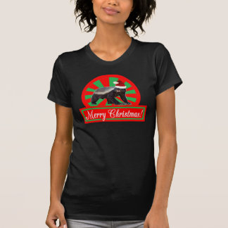 Honey Badger Retro Merry Christmas T-shirt