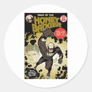 Honey badger retro stickers