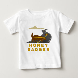 honey badger road kill baby T-Shirt