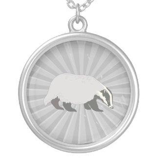 honey badger round pendant necklace