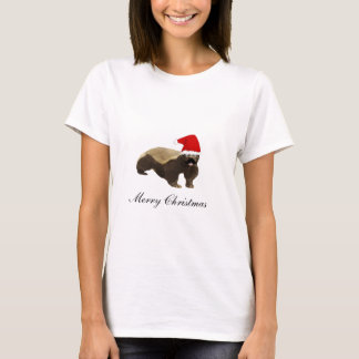 Honey Badger Santa Funny Christmas T Shirts