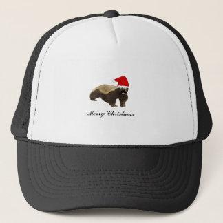 Honey Badger Santa Funny Christmas T Shirts Trucker Hat