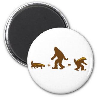 Honey Badger Sasquatch Hybrid 2 Inch Round Magnet