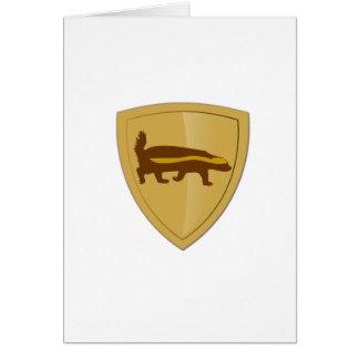 Honey Badger Shield & Crest Card