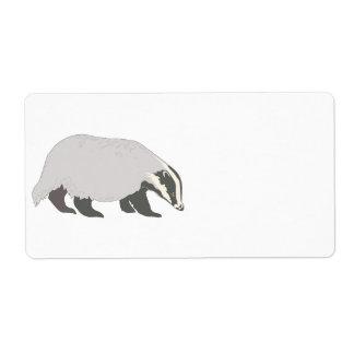 honey badger shipping label