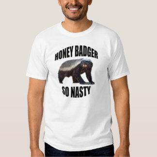 HONEY BADGER SO NASTY T SHIRT