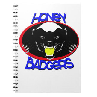 Honey Badger Softball Spiral Notebook