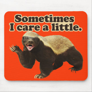 Honey Badger Sometimes I Care A Little Mouse Pad