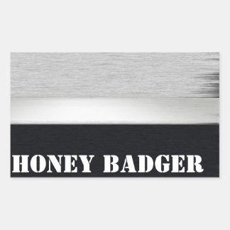 Honey badger rectangle sticker