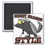 HONEY BADGER STYLE 2 INCH SQUARE MAGNET