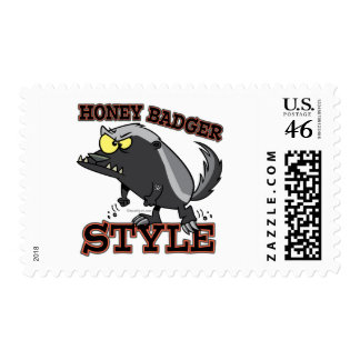 HONEY BADGER STYLE POSTAGE STAMP