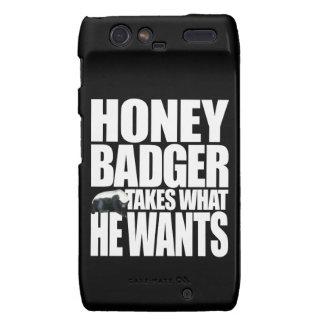 Honey Badger Takes What He Wants Droid RAZR Case