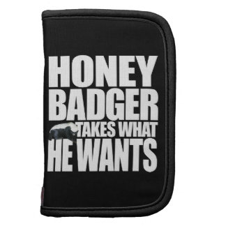 Honey Badger Takes What He Wants Folio Folio Planner