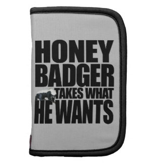 Honey Badger Takes What He Wants Folio Planners