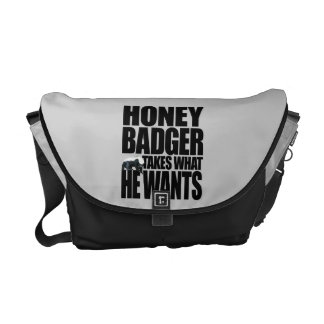 Honey Badger Takes What He Wants Messenger Bag