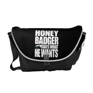 Honey Badger Takes What He Wants Courier Bags