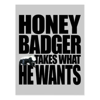 Honey Badger Takes What He Wants Postcard