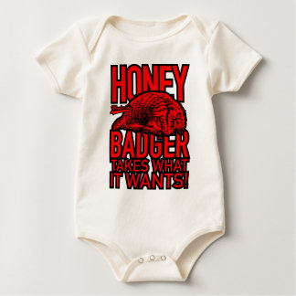 Honey Badger Takes What It Wants Baby Bodysuit