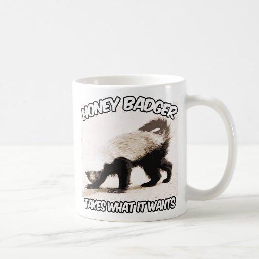 Honey Badger Takes what it wants Classic White Coffee Mug