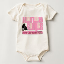 Honey Badger Takes What SHE Wants Baby Bodysuit