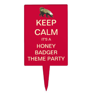 Honey Badger Theme Party Cake Topper