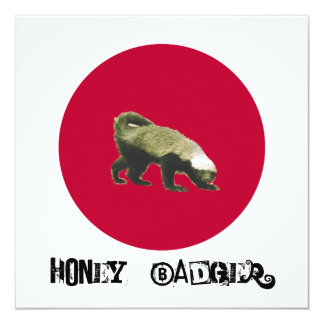 Honey Badger Theme Party Invitation