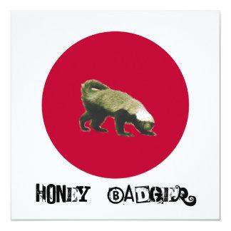 Honey Badger Theme Party Invitation